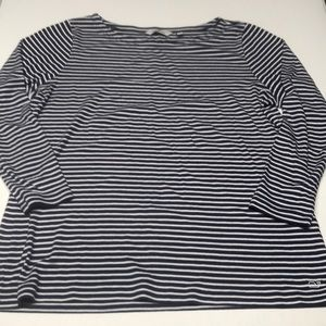 Vineyard Vines Striped Boatneck Tee Navy Blue XL